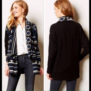 ANTHROPOLOGIE - Santiam Aztec Fleece Cardigan